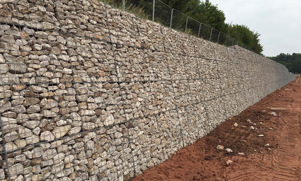 Beacon Business Park Welded Mass Gravity Gabion Retaining Wall Portfolio