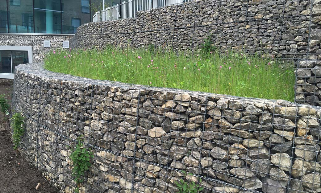 City View Brighton Welded Gabion Architectural Cladding Mass Gravity Retaining Wall Portfolio