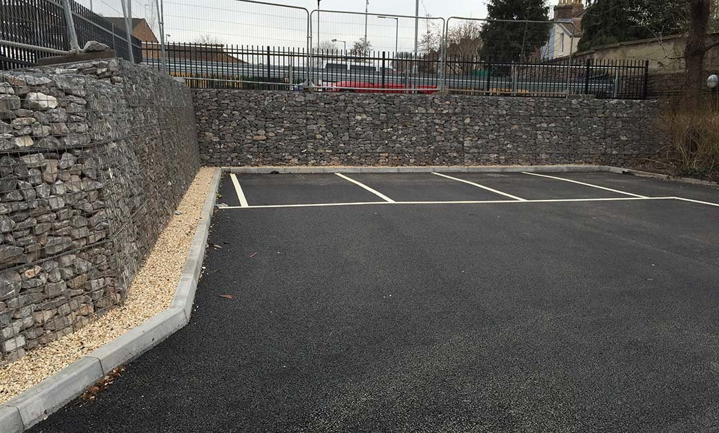 Eastville Medical Centre Welded Mass Gravity Gabion Retaining Wall Portfolio