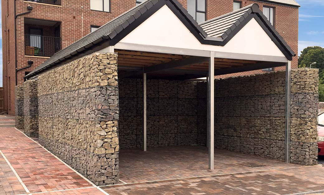 Telford Millenium Village Welded Post Supported Walls Car Port Portfolio