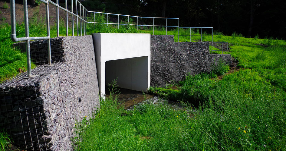 Mousesweet Brook Welded Gabion Mass Gravity Retaining Wing Walls Portfolio